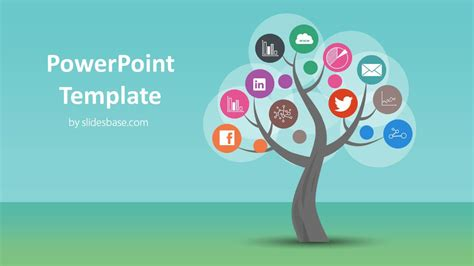 tree diagram template powerpoint tree tree diagram powerpoint template slidesbase