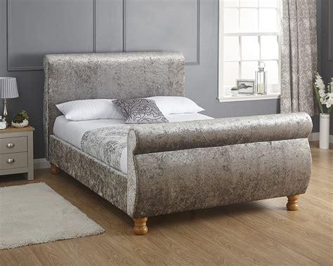 Beds Chicago by Chicago 135cm Bed Crushed Velvet Amc Furniture