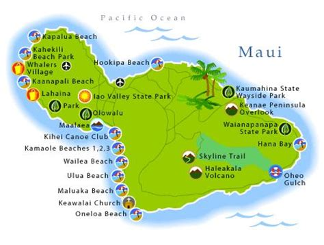 printable road map maui hawaii maui maps printable maui map beaches maui pinterest