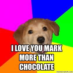 I Love L Meme - i love you mark more than chocolate