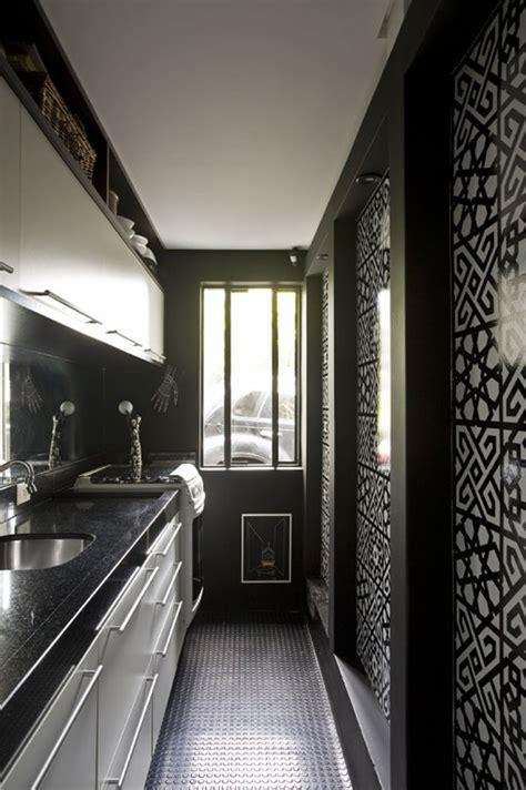 Black N White House Interior Design by Home Interior And Exterior Design Black Wall Interiors
