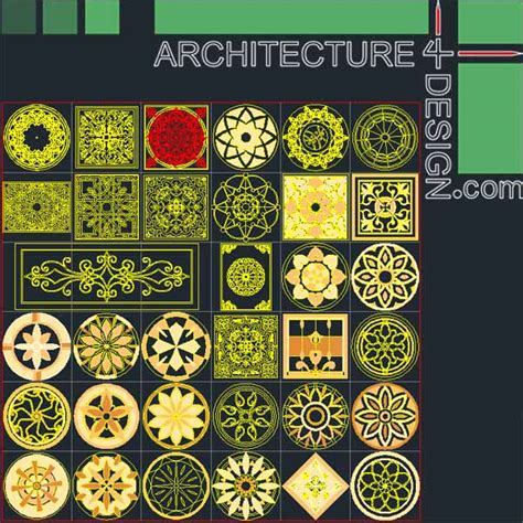 pattern islamic autocad landscape design plans dwg home design