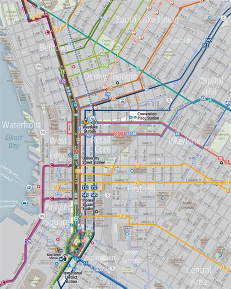 seattle map transportation transportation maps getting around downtown