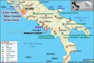 Map Of Italy Amalfi Coast by Amalfi Coast Italy Map Location Facts Weather Tours