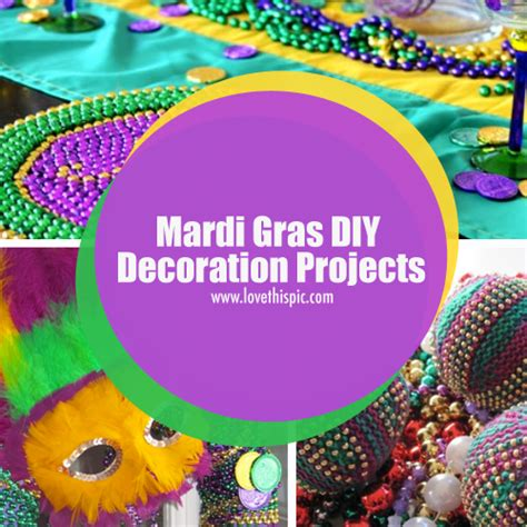 How To Make Mardi Gras Decorations by Mardi Gras Diy Decoration Projects