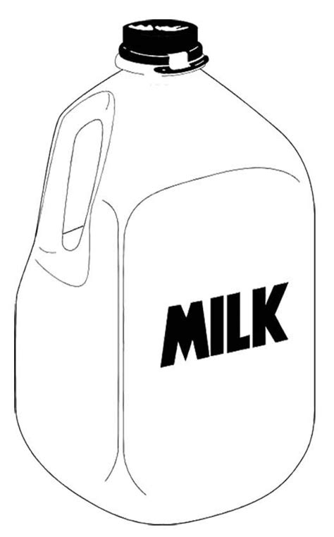 Milk Coloring Page picture of a milk bottle coloring pages