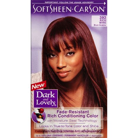 and lovely hair color and lovely fade resistant rich conditioning color
