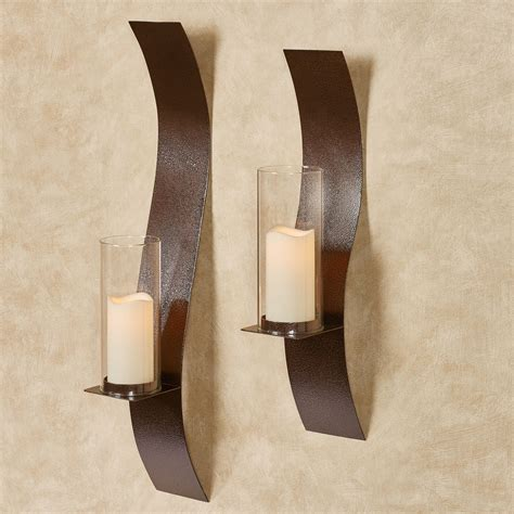 Copper Wall Sconce Sinuous Antique Copper Wall Sconce Set By Jasonw Studios
