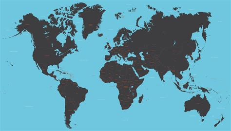 global map vector vector world map with all countries maproom