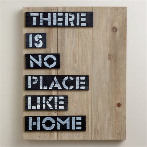 there is no place like home sign world market