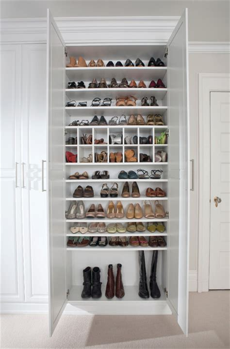 Shoe Storage For Wardrobes custom shoe closet traditional closet new york by