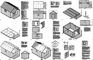 Free House Plans With Material List by 20 X 12 Guest House Garden Porch Shed Plans P72012