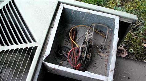 rheem air conditioner fan motor my ruud air conditioner youtube