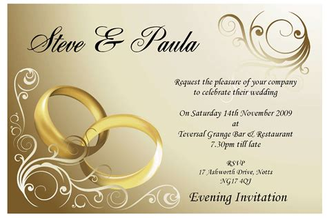 wedding invitation day or evening invitation templates
