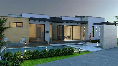plano de casa campestre diseno moderno en  piso