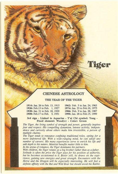 new year tiger zodiac zodiac unlimited astrology postcard tiger