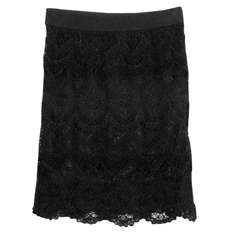 Black Origami Skirt - origami layered lace skirt pinto ranch