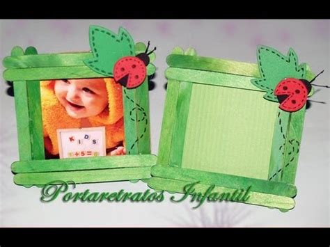 como a prender hacer porta retratos de palitos portarretratos infantil diy photo frame for childs