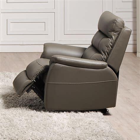 fauteuil relax lectrique gris en cuir sofamobili