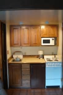 kitchenette cabinets accommodations white pass village inn