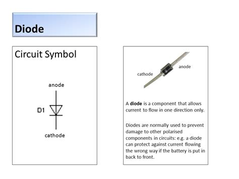 diode anode or cathode resistor circuit symbol ppt