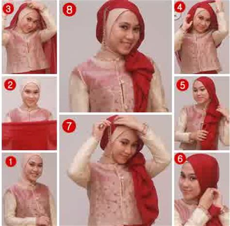 tutorial hijab pesta baju kebaya tutorial hijab untuk kebaya modern terbaru