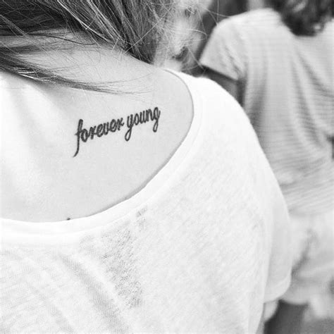 forever young tattoo designs back saying forever on