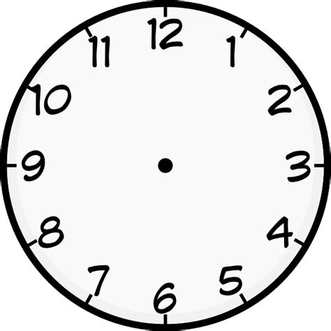 free printable clock images printable blank clock face clipart best