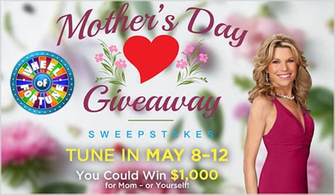 Wheel Of Fortune Mother S Day Giveaway - wheel of fortune mother s day giveaway daily puzzle solutions