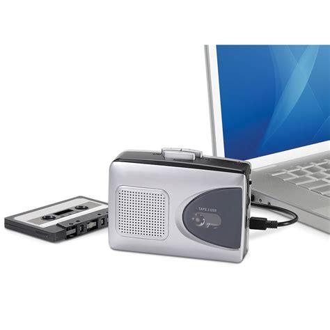 cassette converter the best portable cassette to mp3 converter hammacher
