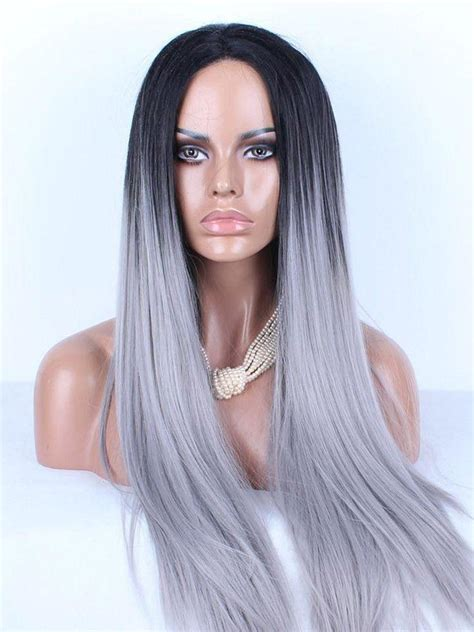 platinum gray ombre hairstyles ombre wig shop platinum human hair wig 1b grey straight