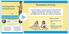 features of biography powerpoint features of an autobiography checklist autobiography