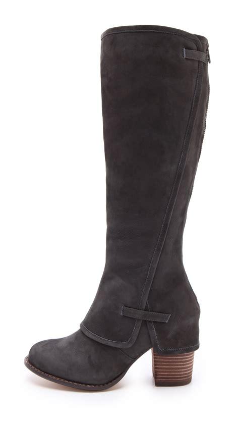splendid boots splendid lima knee high boots in black steel lyst
