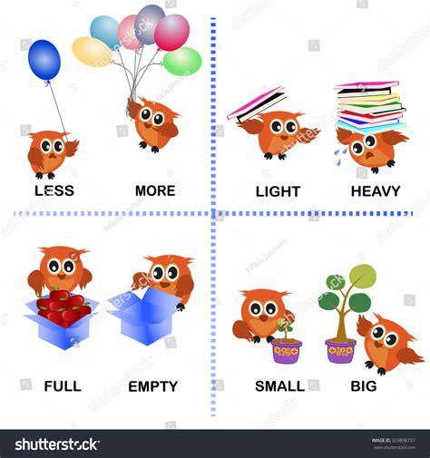 more clipart opposite word vector background preschool less stock