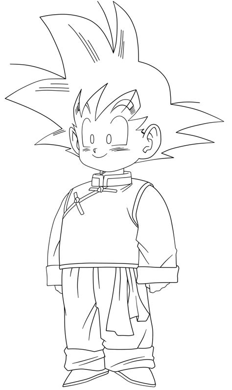 goten free coloring pages