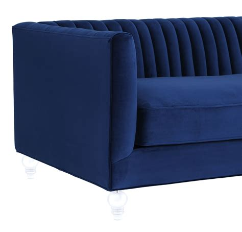 aviator navy velvet sofa from tov tov s101 coleman
