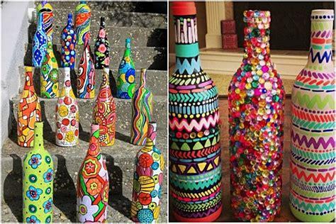Diy Wine Bottle Vases Ideas Home Amp Garden Architecture Furniture Interiors