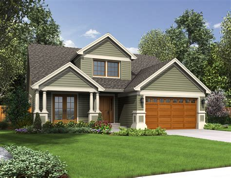 compact craftsman style 6858am architectural designs