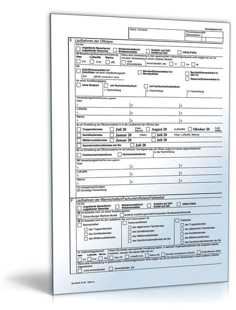 Fragen Bewerbung Bundeswehr Bewerbungsbogen Freiwilligendienst Bundeswehr Fwd Formular Zum