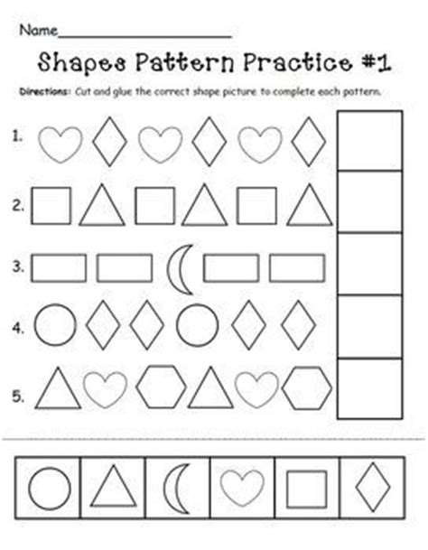 learning pattern quiz 25 best ideas about shape patterns on pinterest