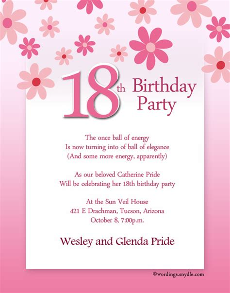 cool 18th birthday invitation templates templates