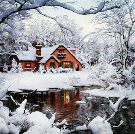 Snowy Cabin In The Woods snowy cabin in the woods winter wonderlands