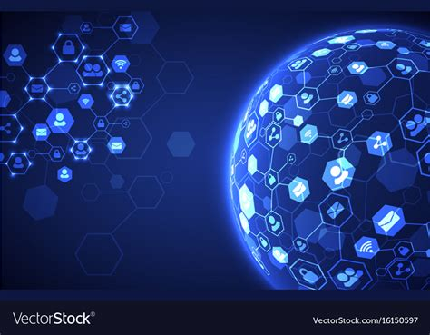 media background social media background network concept royalty free vector