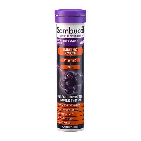 Sambucol Black Elderberry Immuno Forte sambucol black elderberry immuno forte 15 effervescent tablets feelunique