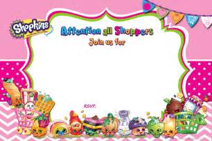 birthday invites free templates updated free printable shopkins birthday invitation