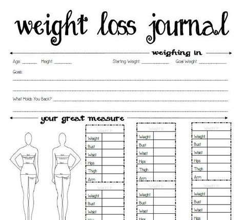 printable diet journal pages 20 best weight loss journal images on pinterest creative