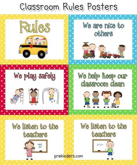printable school rules poster pre k classroom rules pinterest classroom preschool