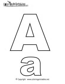 Letter a coloring sheet coloring kids