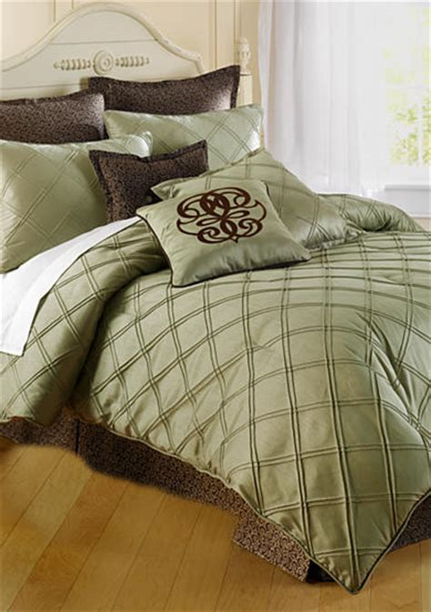sage bedding home accents 174 pintuck bedding collection sage belk