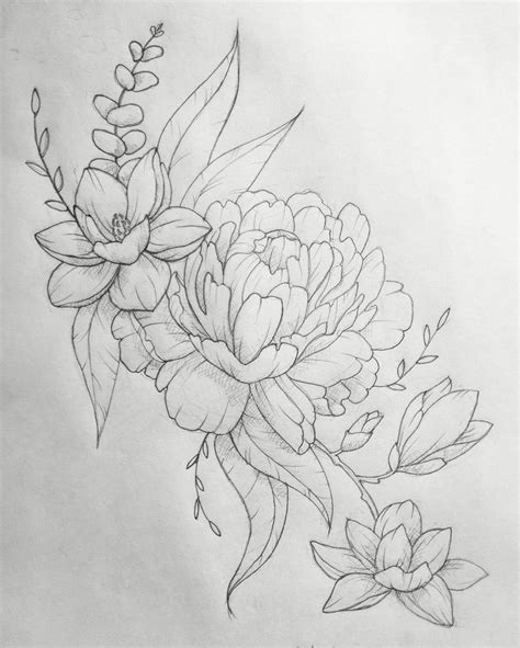 flower collage tattoo designs flower designs on thigh